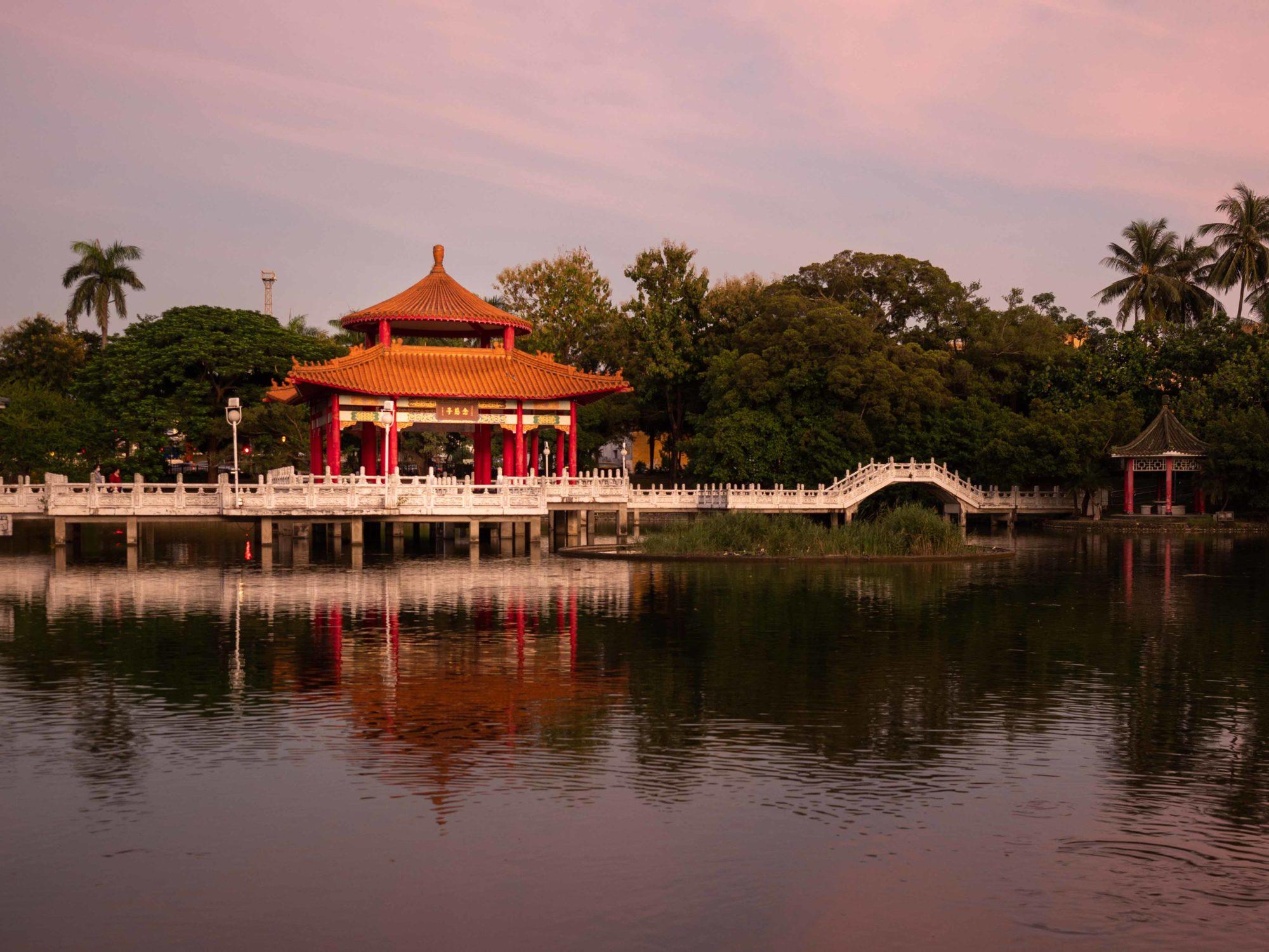 Tainan beautiful picture sunset