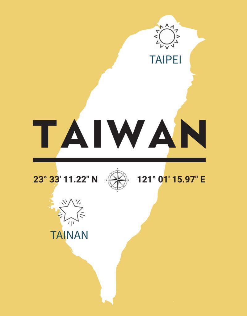 Taiwan Taipei Tainan géographie