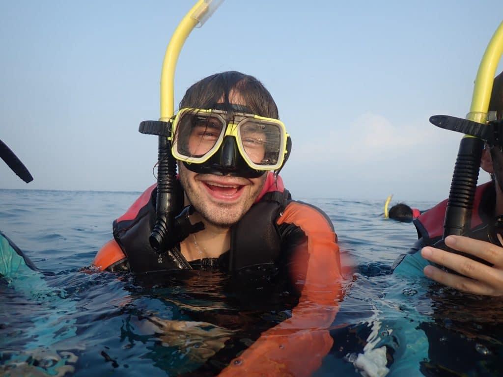 snorkeling Taïwan tortues de mer bonheur